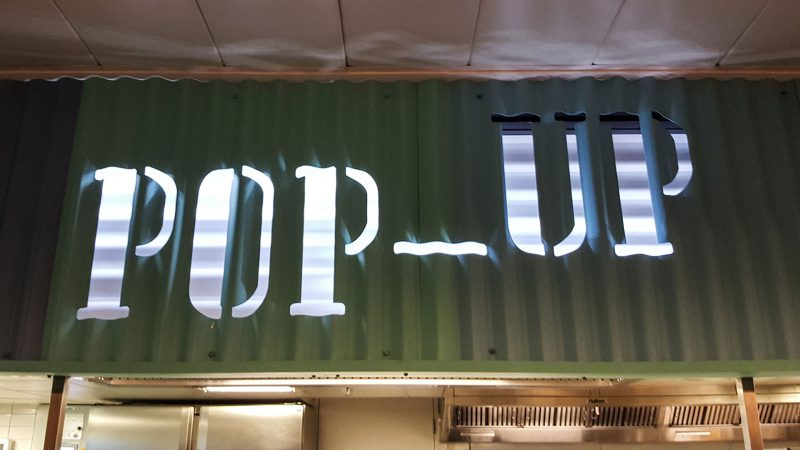 Pop-Up Corrugated Internally Illuminated Sign