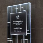 Queen Elizabeth Hospital Illuminated Plaque