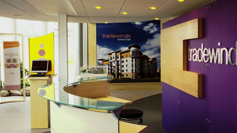 Reception Counter at Marketing Suite