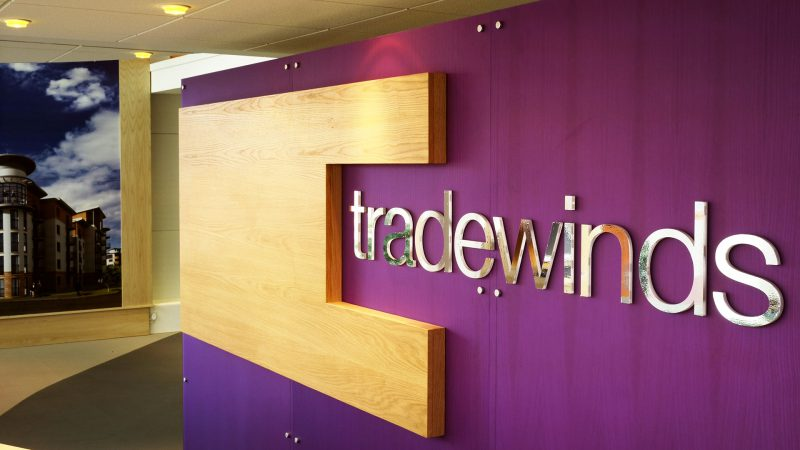 Marketing Suite Reception Sign at Tradewinds