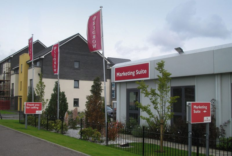 Redrow Marketing Suite Exterior Signage