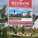 Redrow Panel and Post Sign