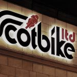 Scotbike Halo lit Acrylic Logo