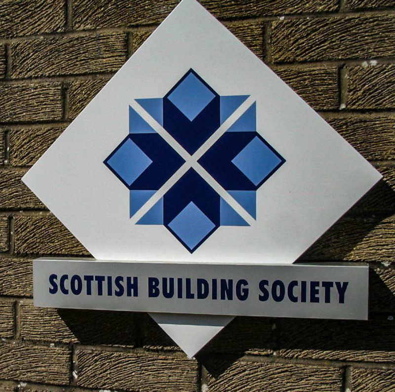 Scottish Building Society Fabricated Logo on Wall