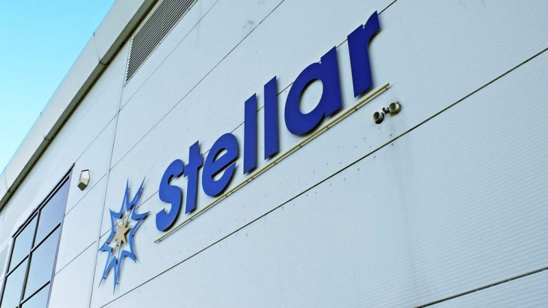 Stellar Factory Sign with Flat Cutout Letters