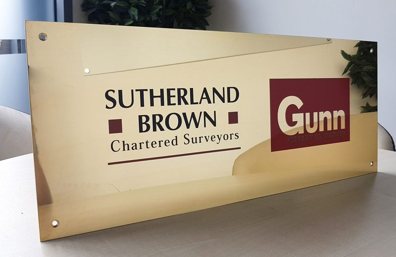 Sutherland Brown Brass Plaque