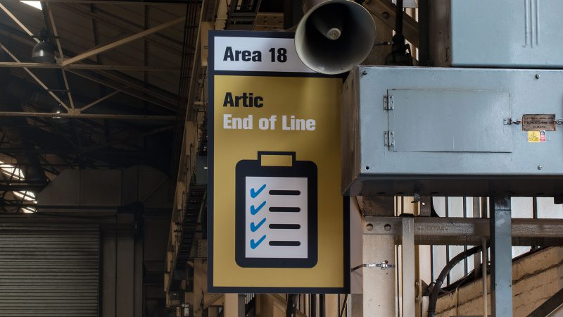 Printed ACM Sign in Factory