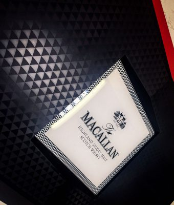 The Macallan Illuminated Logo to Front of Bar