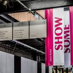 Tramway Theatre Digitally Printed Wooden Suspended Signs with Suspended Banners