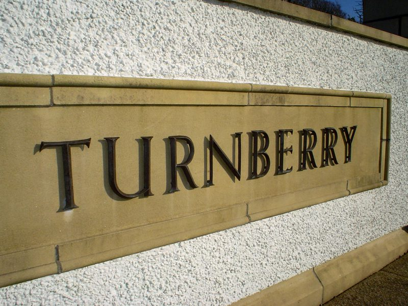 Turnberry Golf Course Bronze Sign Letters