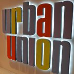 Urban Union Laminated 3D Sign Lettering with LED Halo Glow