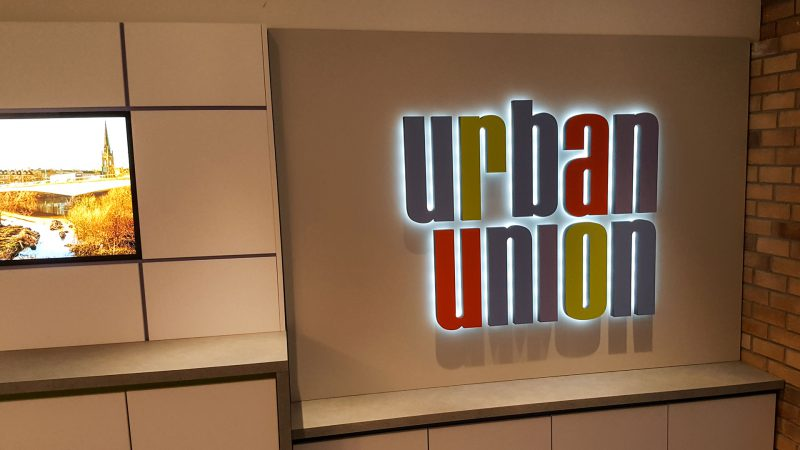 Urban Union Halo lit 3D Lettering
