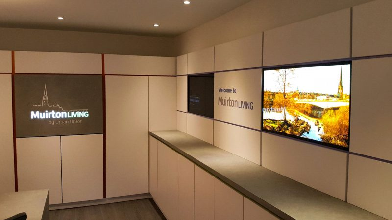 Urban Union Marketing Suite with Illuminated Signage