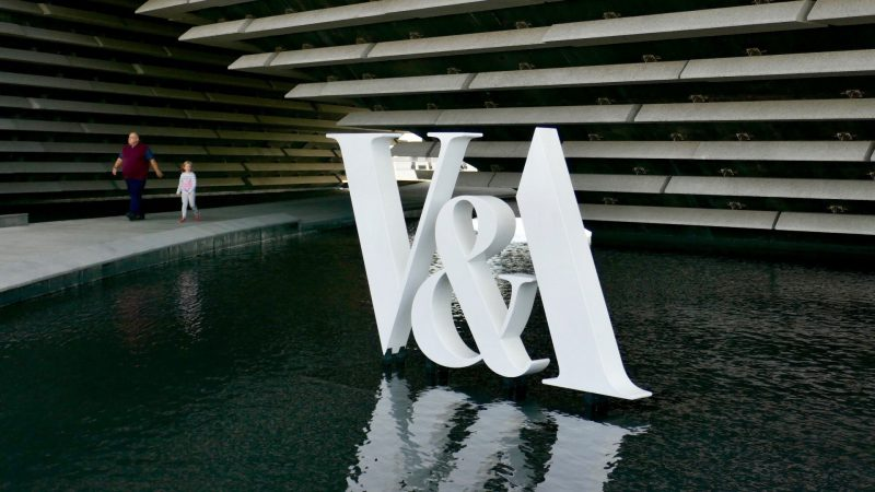 V&A Fabricated Logo in Water