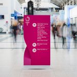 Wayfinding Monolith for World Gymnastics Championships