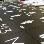 Wayfinding Signage System being Manufactured