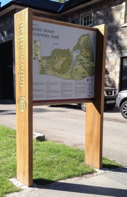 Oak Sign with Large Format Digital Print
