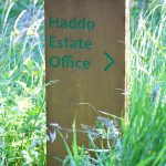 Haddo Park Wooden Post Directional Sign