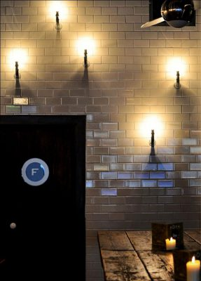 Illuminated Feature Wall at Bar Soba