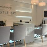 Illuminated Feature Wall and Reception Desk