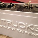 Models Trucks in Corian Display Case