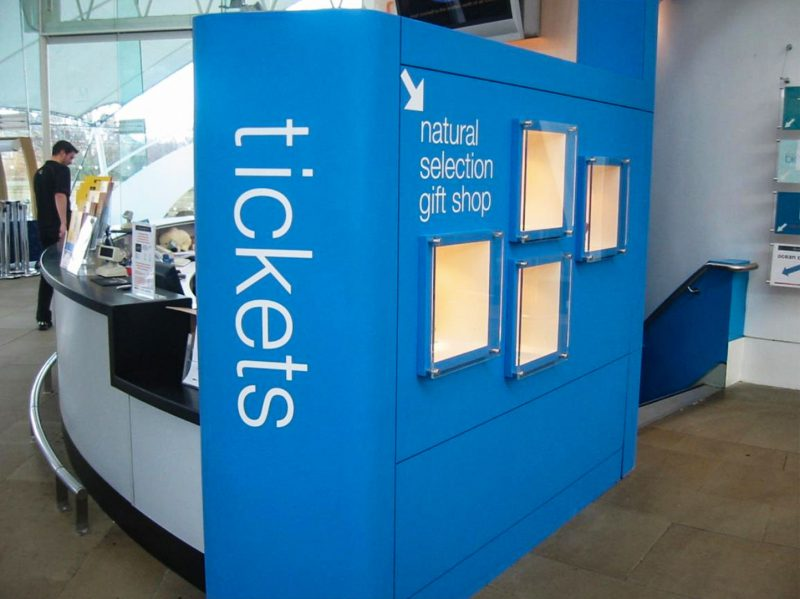Ticket Counter at Dynamic Earth