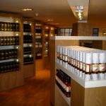 Whisky Display Cabinets in Visitor Centre Shop