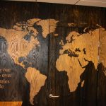 Map Printed onto Wooden Doors