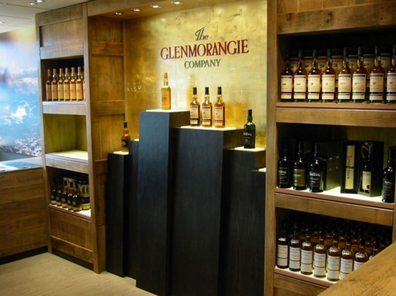 Whisky Display in Visitor Centre Shop