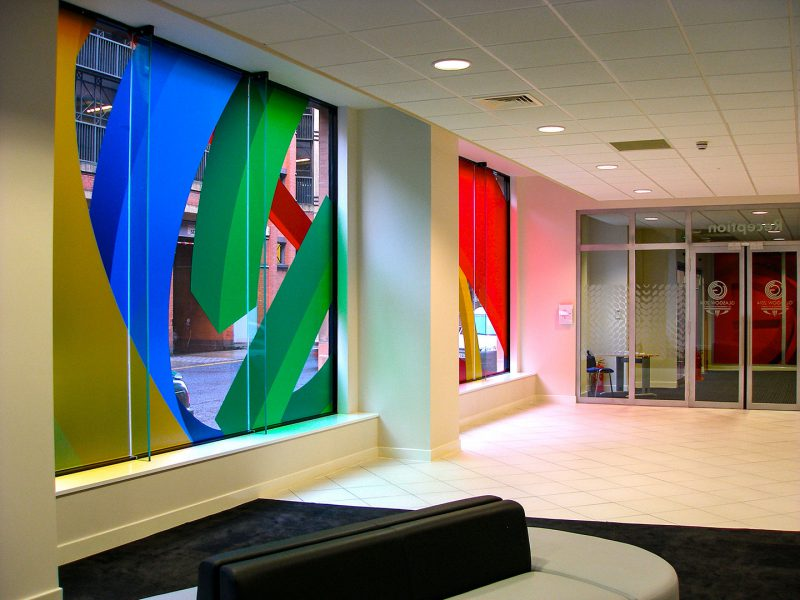 Colourful Windows Using Printed Vinyl