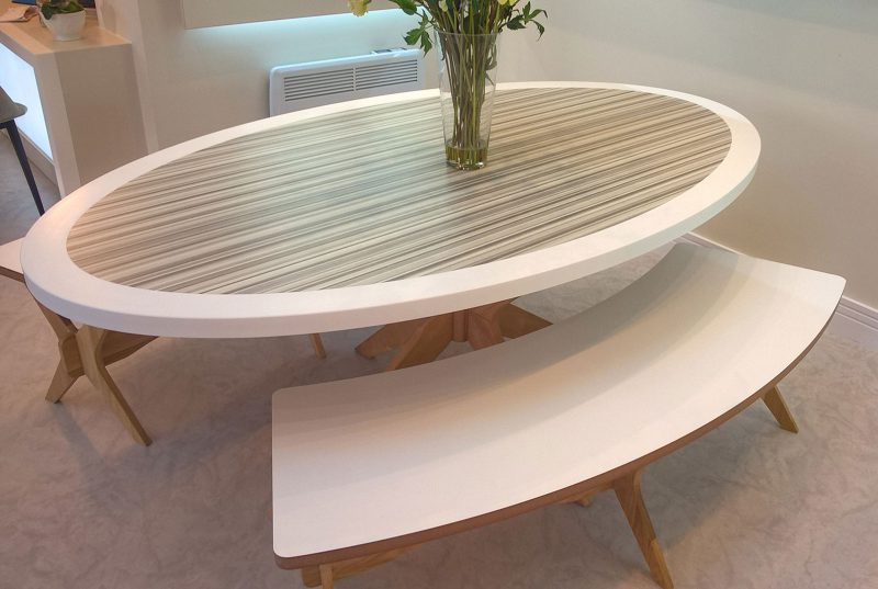 Oval Meeting Table in Property Marketing Suite
