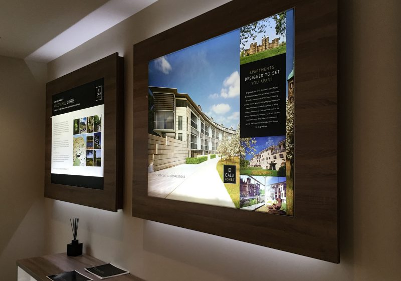 Illuminated Panels in Property Marketing Suite