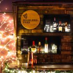 Highland Park bar made from whisky barrels