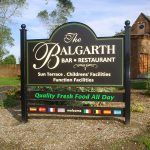 Balgarth Hotel Panel and Post Sign