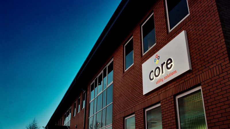 Core Utility Solutions Illuminated Wall Sign