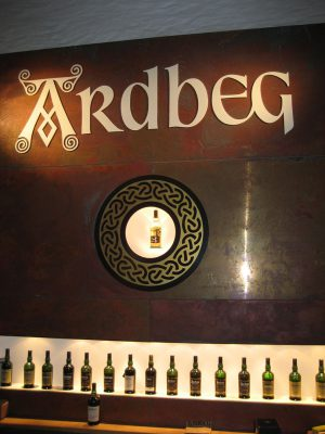Ardbeg Islay Display Wall