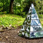 Brodick Castle Sand Blasted Mirrored Steel Pyramid