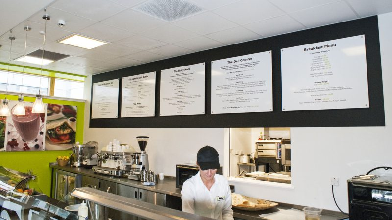 Café Menu Display Board
