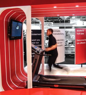 Exhibition running machine at NB trade show