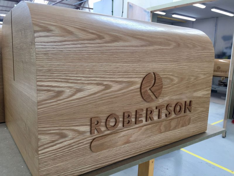 Robertson Group Bespoke Oak Plinth (Detail)