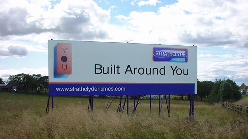 Strathclyde Homes Panel and Post Billboard