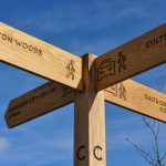 Oak Directional Sign