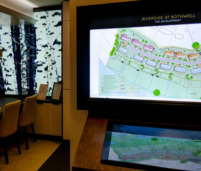 Touchscreen System and Graphics in Marketing Suite