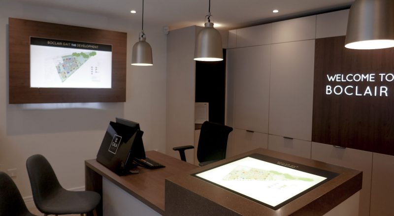 Reception Area in Property Marketing Suite