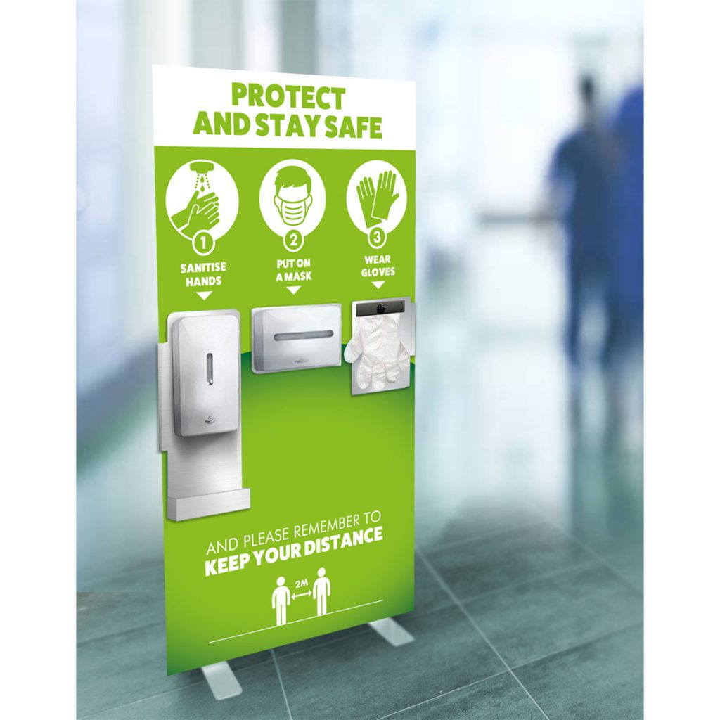 Free standing Hygiene Station for Health Care Practices