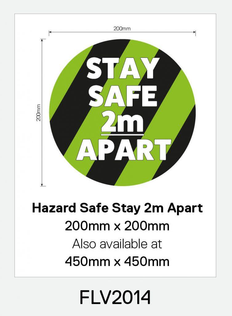 'Stay Safe 2m Apart' Vinyl Floor Sign