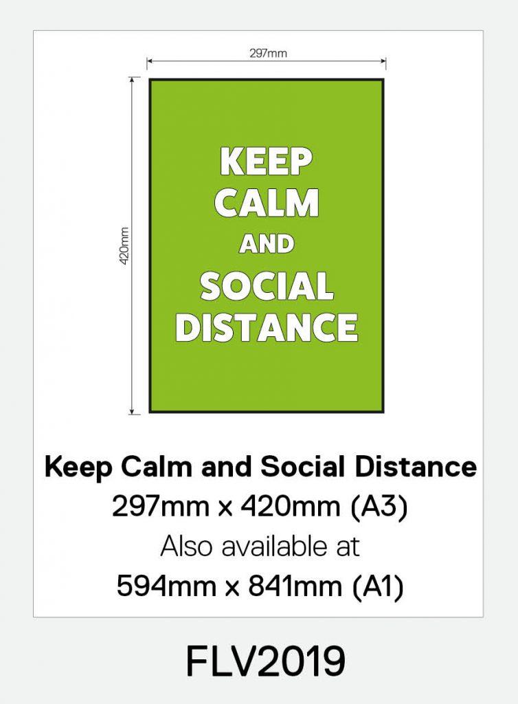 'Keep Calm and Social Distance' Vinyl Floor Sign