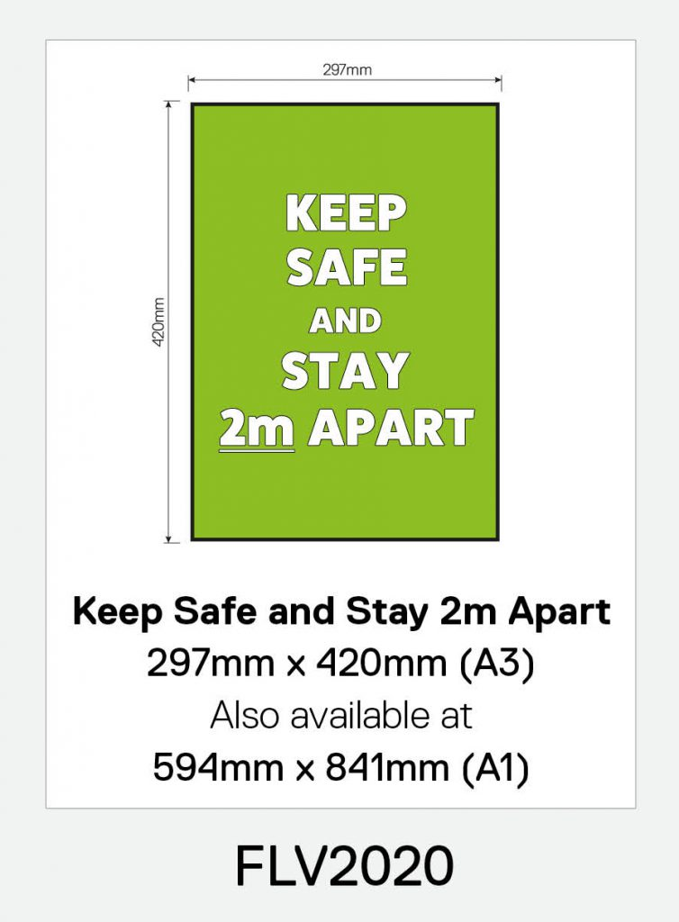 'Keep Safe and Stay 2m Apart' Vinyl Floor Sign