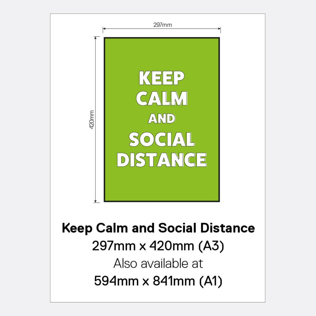 'Keep Calm and Social Distance' Vinyl Wall Sign