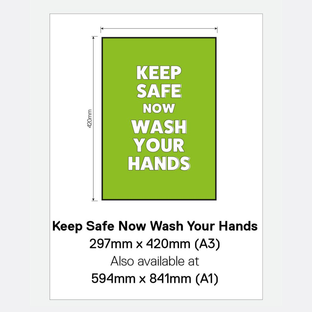'Keep Safe Now Wash Your Hands' Vinyl Window Sign
